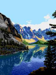 Mountain Lake by Retronator