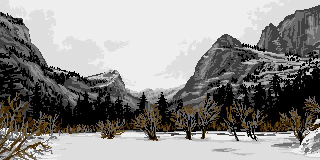 Mountain Pass by Retronator
