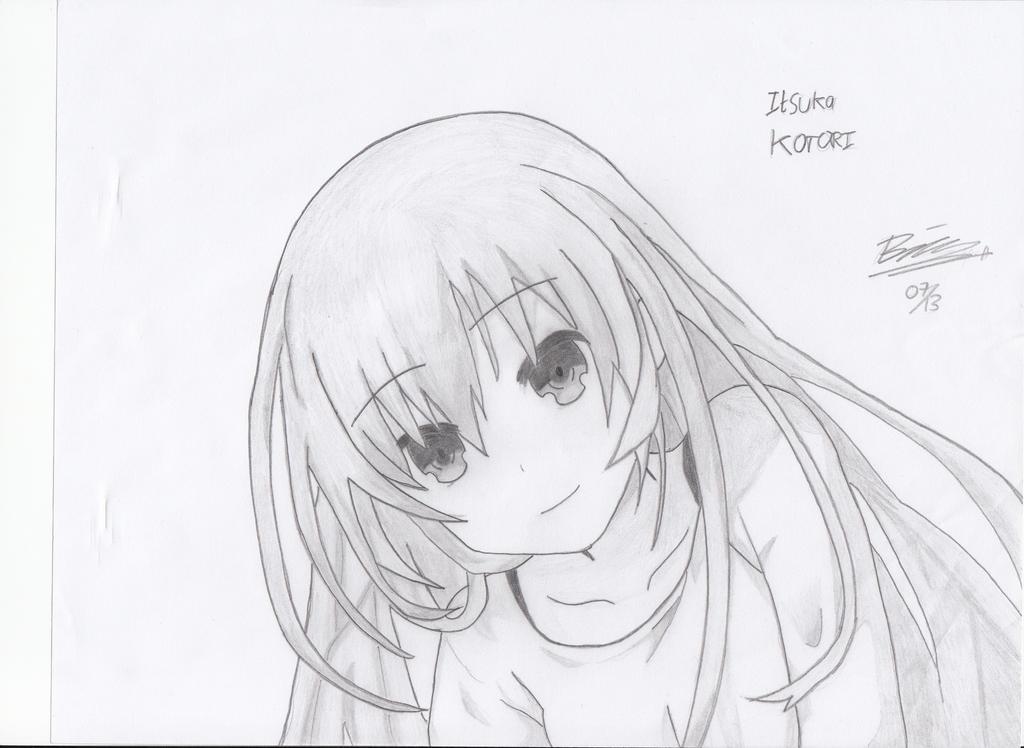 Itsuka Kotori ! (without ribbons) by verluxez