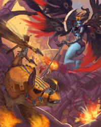 Summoner+Devil team battle by PortBaron