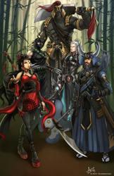 The Shinteidan Commanders by PortBaron