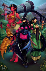 Yokai Sisters by PortBaron