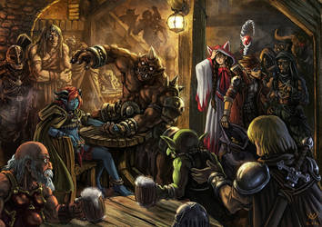 The Armwrestling Match by PortBaron