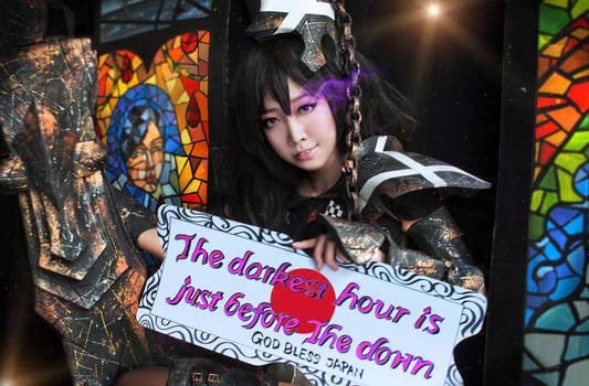 Prayers from cosplayer