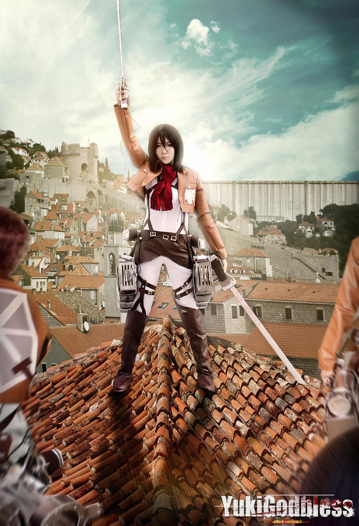 Extemely strong! mikasa Attack on titan by yukigodbless