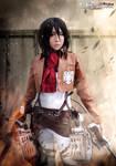 mikasa ackerman from Attack on Titan cosplay