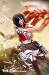 mikasa ackerman from Attack on Titan cosplay  Jump