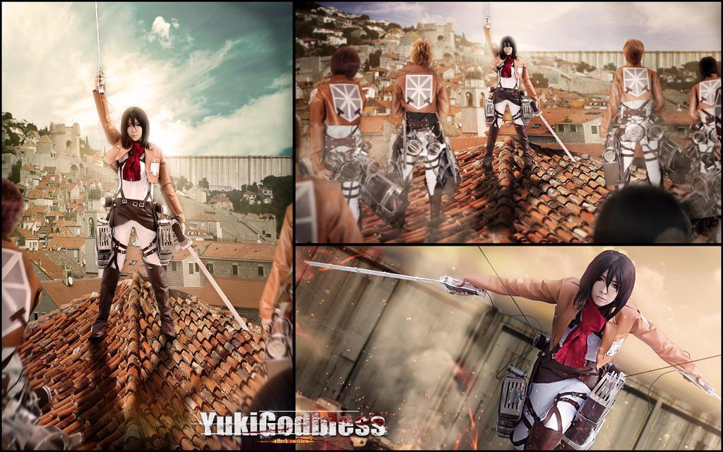 Mikasa Ackerman Attack on titan  cosplay Stronger by yukigodbless