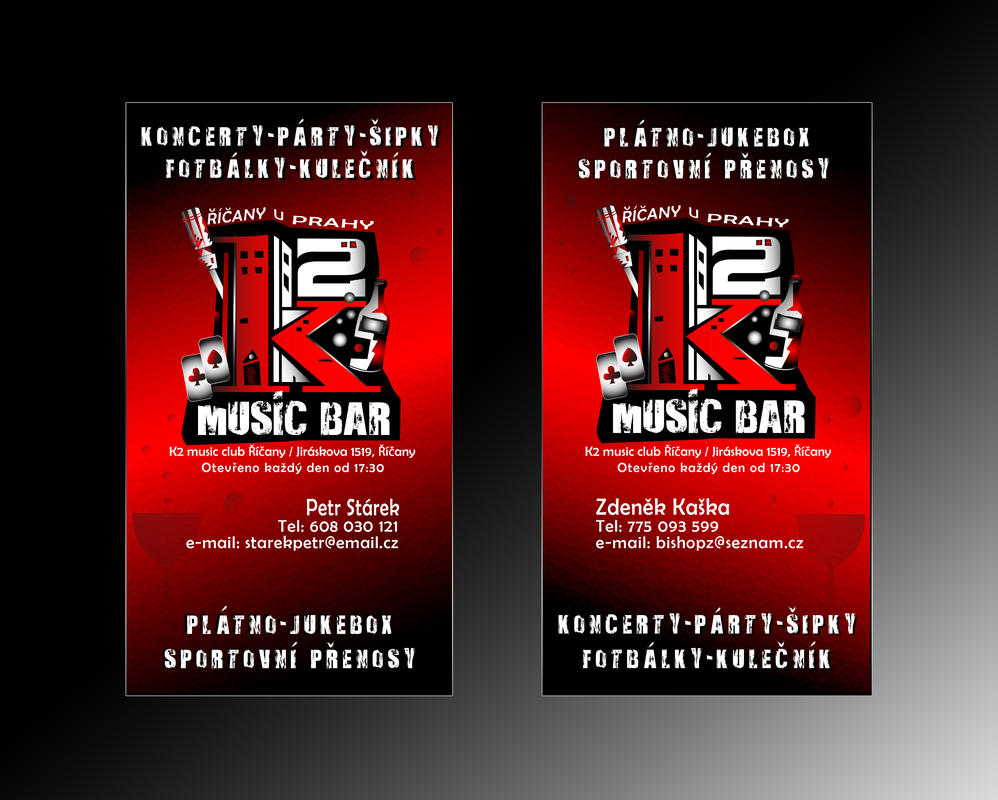 K2 music bar business card by r1design on deviantart k2 music bar business card by r1design magicingreecefo Images