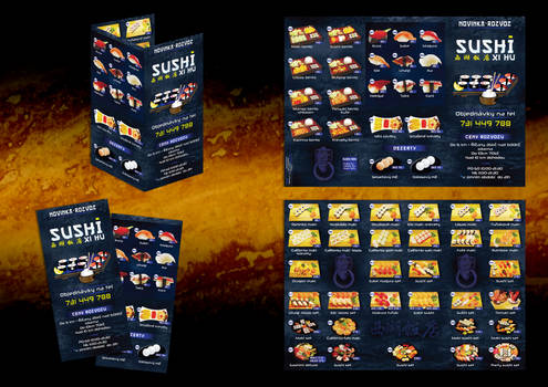 Ricany Sushi delivery menu by R1Design
