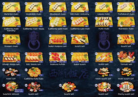Sushi delivery menu-inside by R1Design