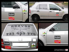 Delivery- car stickers- PHOTO by R1Design