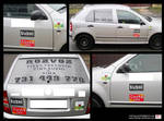 Delivery- car stickers- PHOTO