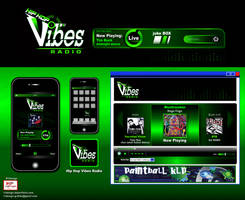 B-4- Vibes -mob app + web players by R1Design