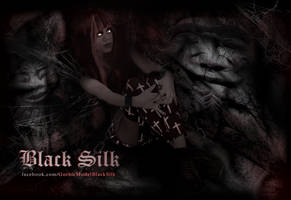 Goth model, Black Silk design 2 by R1Design