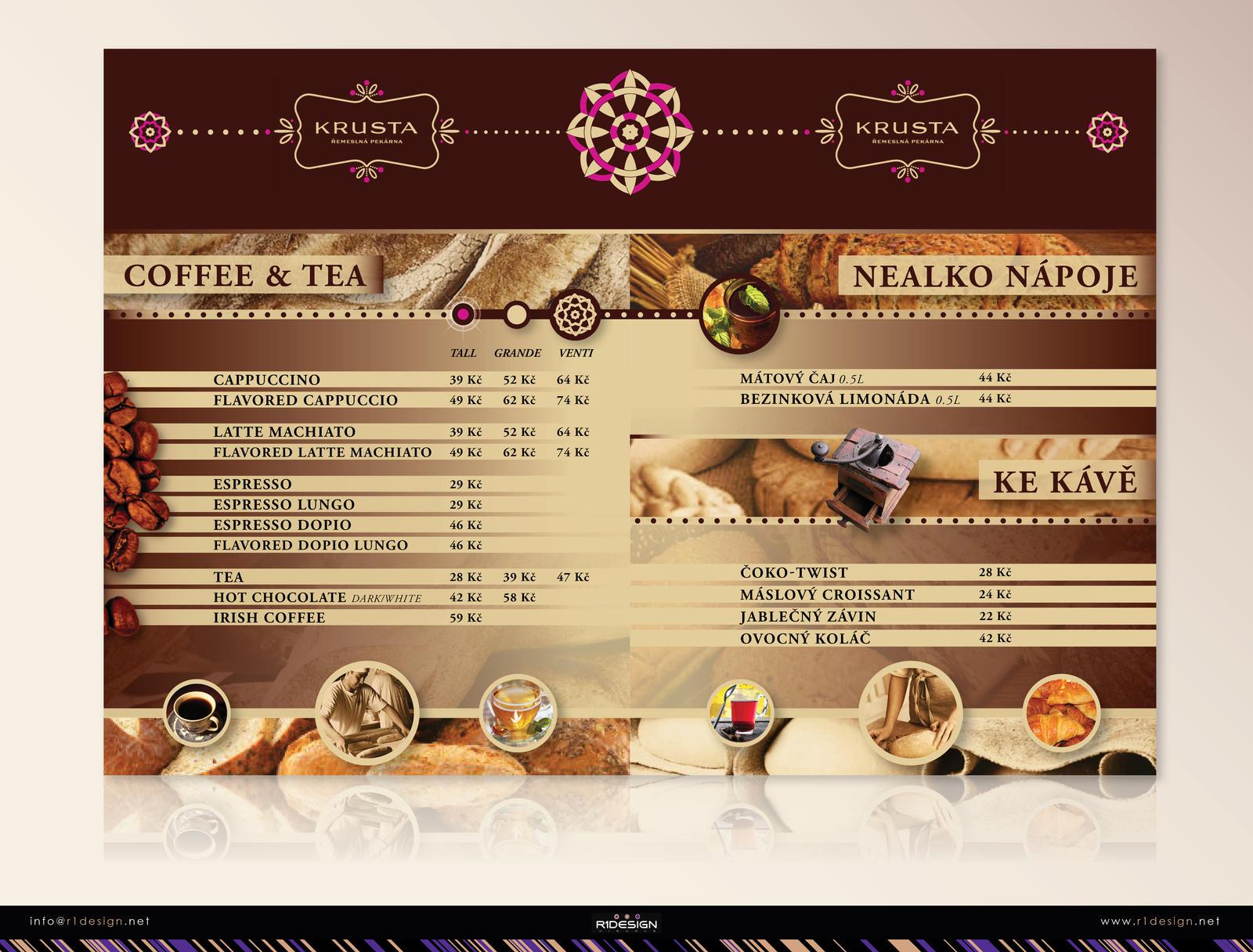 Bakery menu (A,B)