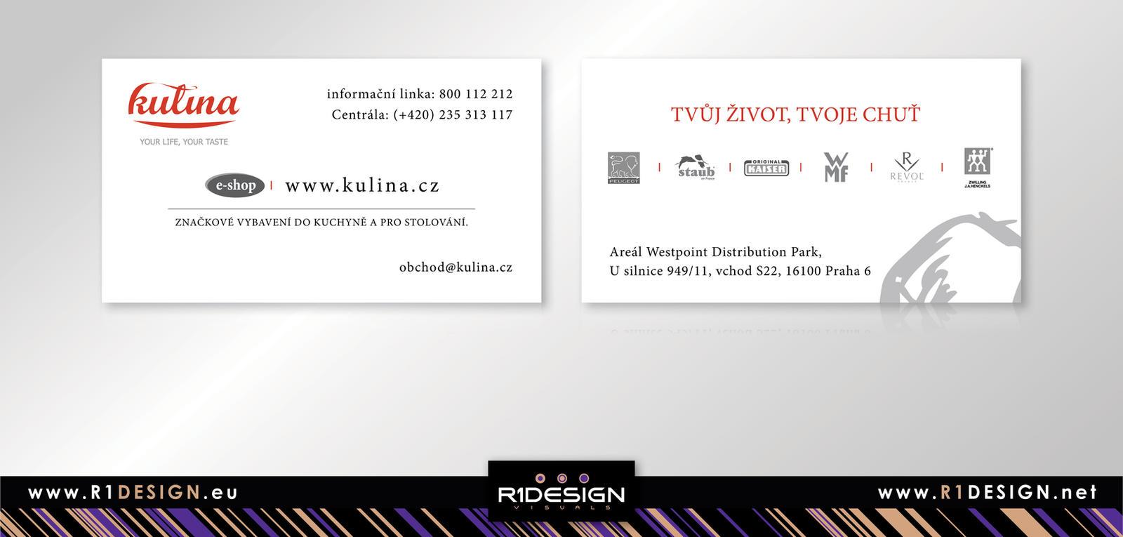 KULINA : e-shop, kitchenware - business card by R1Design on DeviantArt