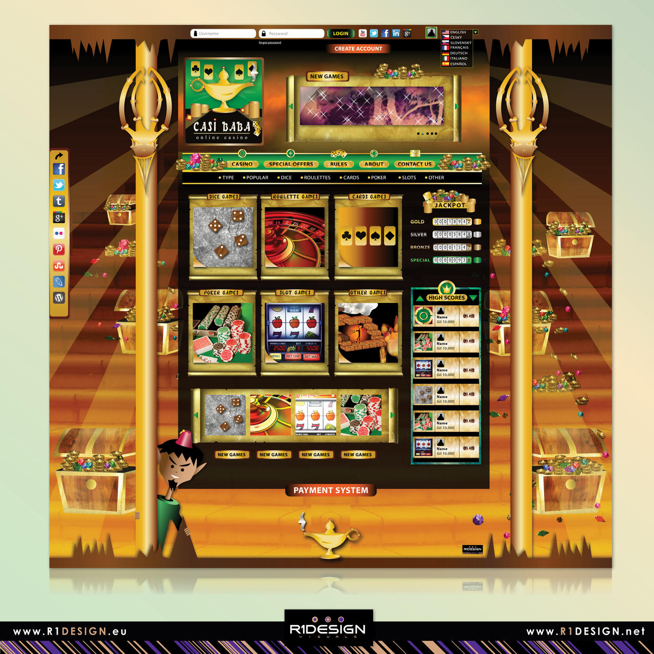 Online Casino Web Concept Casi Baba By R1design On Deviantart