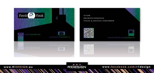 Patrik Patak -Entertainment- business card