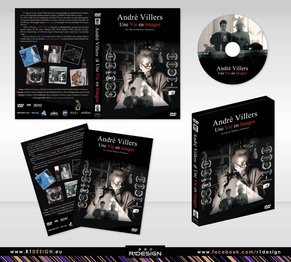 DVD cover-Documentary film-Une Vie en Images by R1Design