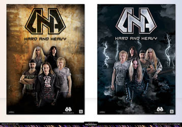 Metal band- D.N.A-poster designs-(1-2)