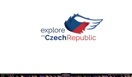 Tourism logo - explore the Czech Republic