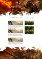 Guild Wars 2 webdesign by Zironako