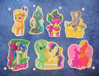 Pony Sticker Sheet 1 by hirurux