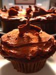 Dark Chocolate Truffle Cupcake