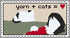 Yarn plus Cats equals Love by Saldemonium