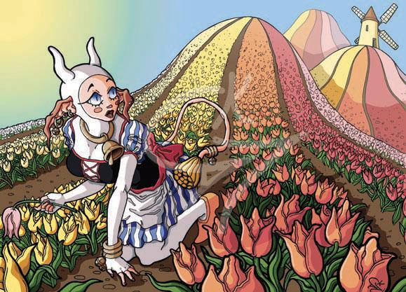 Collines de tulipes by kcla