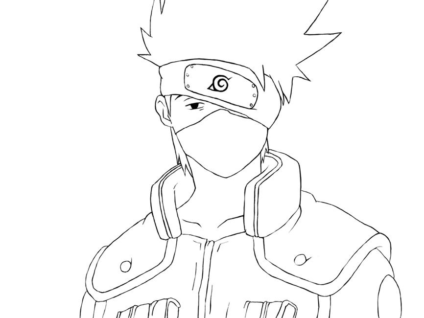 Kakashi Printable Coloring Pages Coloring Pages