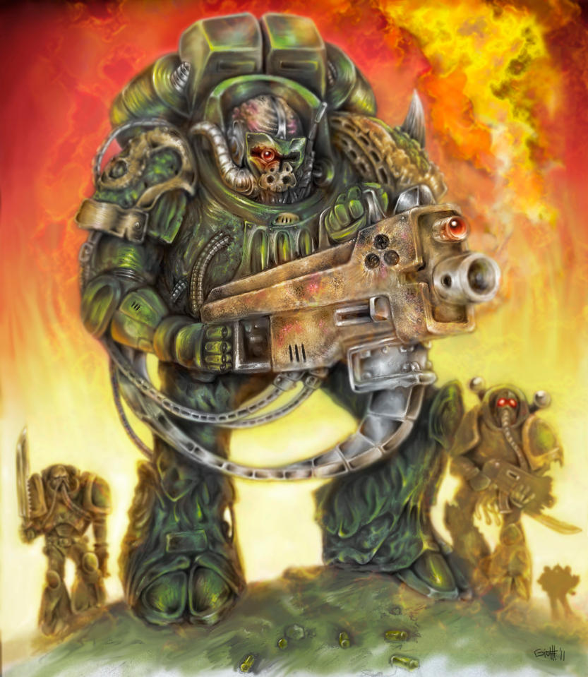 [W40K] Collection d'images : Space Marines du Chaos Nurgle_by_giohmaddox-d3as3xw