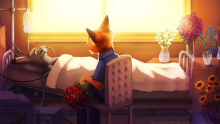 Roses today (Zootopia Fanart) by Neytirix