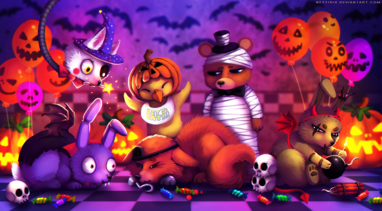 Happy halloween fnaf fanart by neytirix on deviantart - Fnaf cute pictures ...