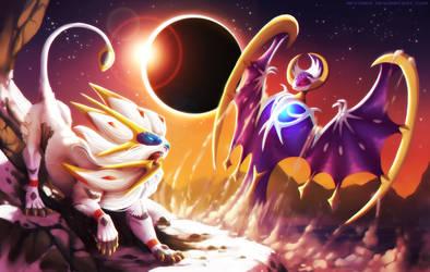 Sun VS Moon (Pokemon Fanart)
