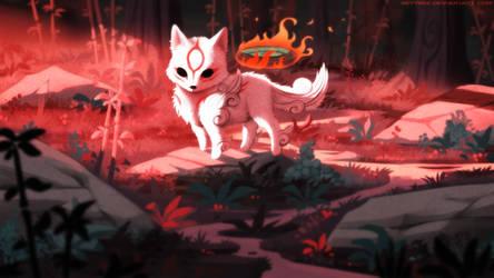 Little Okami Amaterasu by Neytirix