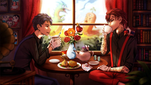 Tea Break (Cuphead Fanart)