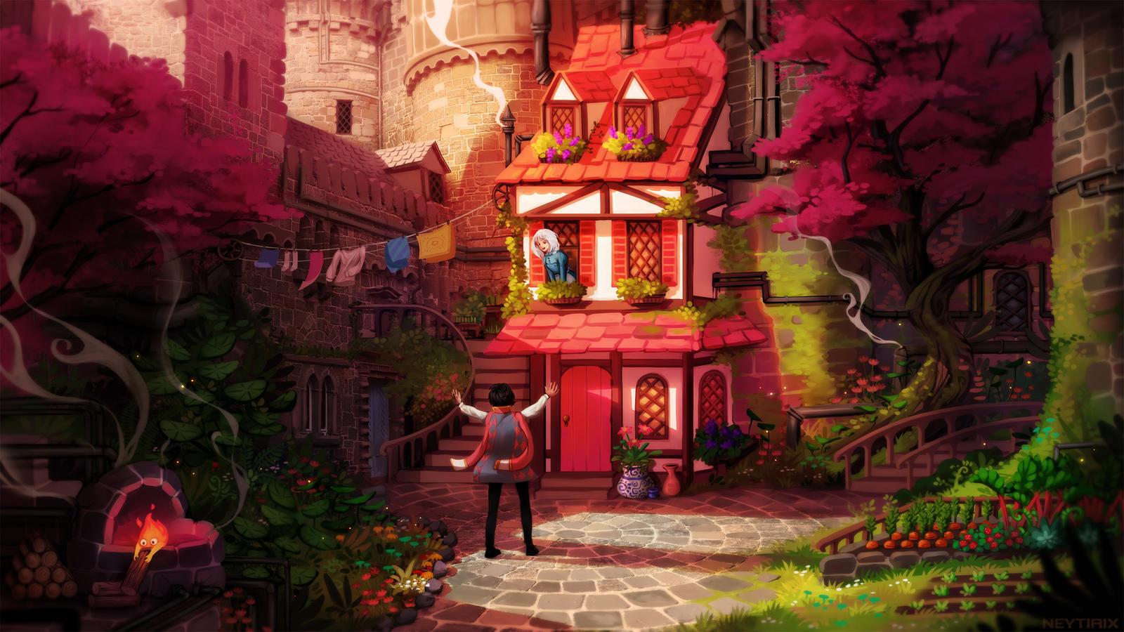 I'm Back! (Howl's Moving Castle Fanart) by Neytirix