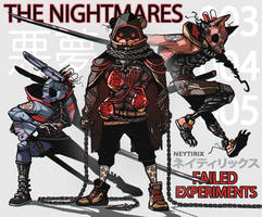THE NIGHTMARES - Failed Experiments 003 - 005