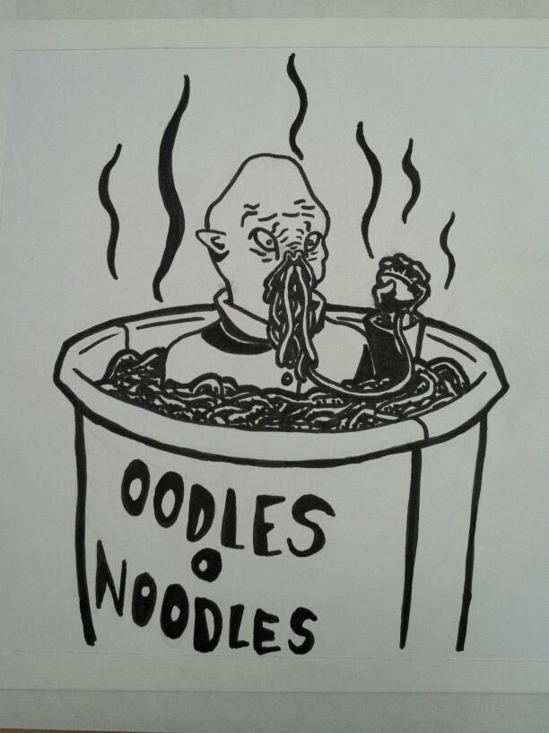 Oodles O Noodles - Doctor Who Ood Fanart by Ongnissim