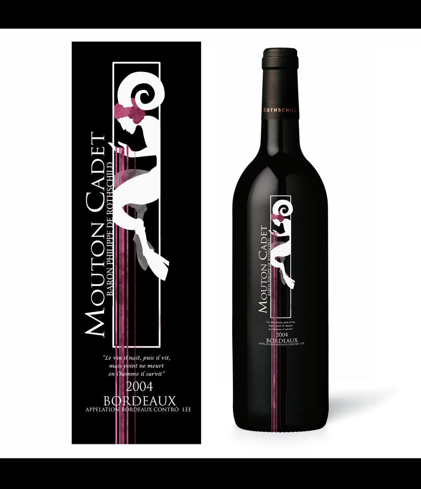 Mouton Cadet Wine Label Design by ChiisanaHime