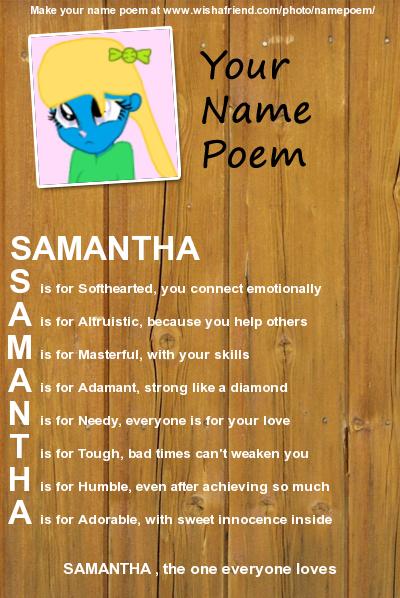 Samatha Name Meaning