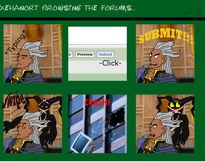 Xehanort Browses The Forums... by Dezblade