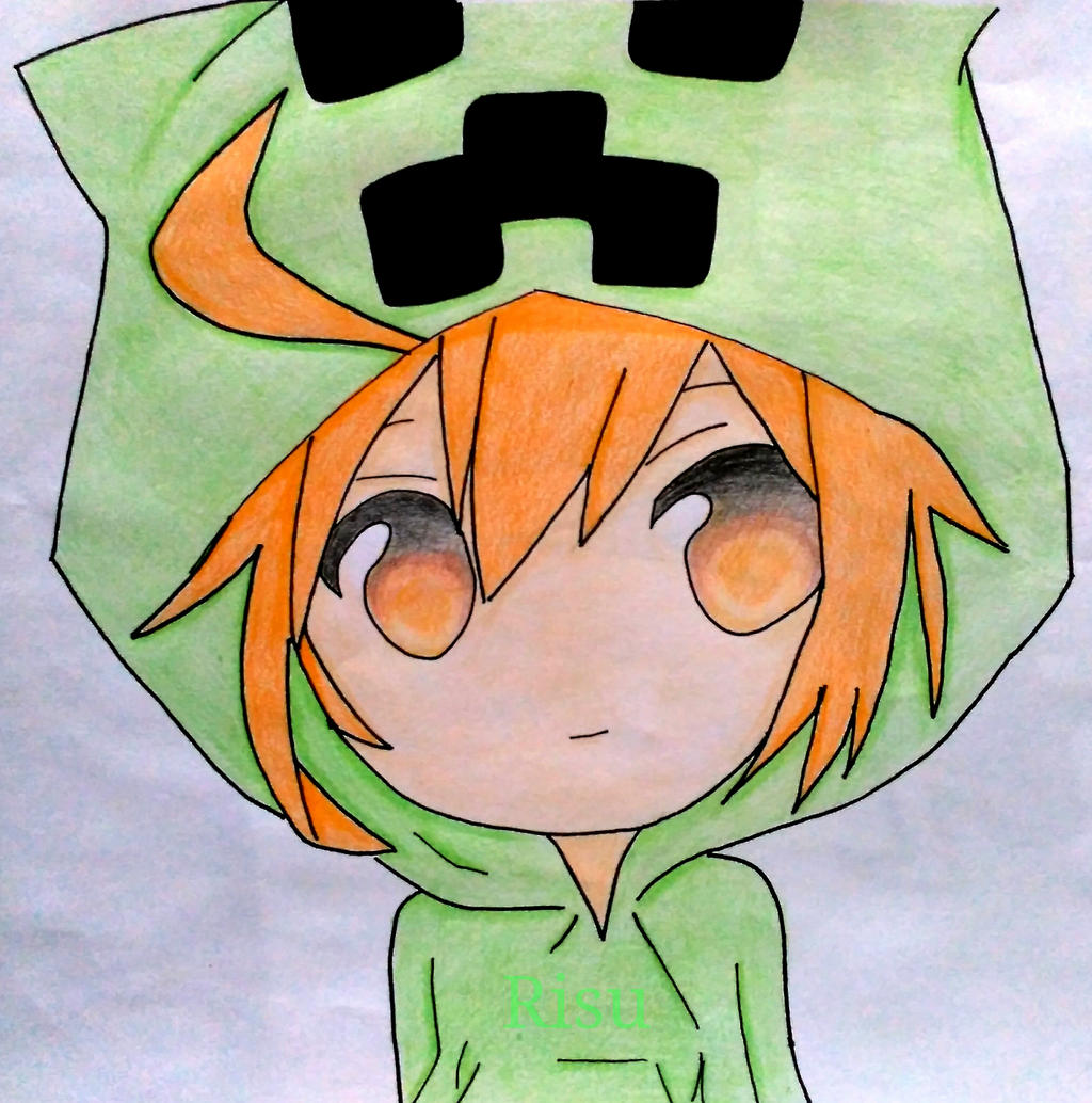Creeper chibi girl minecraft by risutsuriratto on - Creeper anime girl ...
