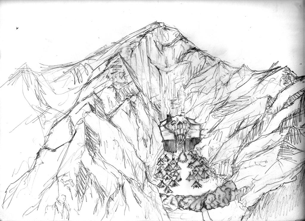 Line Art Mountains : Line drawing mountain images