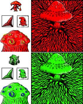 Mushroom Wars Sprites