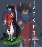 (close) Adoptable : Black fox by ruangkhow