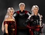 Aegon, Visenya and Rhaenys Targaryen