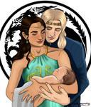 Rhaegar and Elia (with baby Rhaenys)